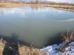 ため池は全面結氷