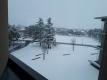 病室から見える雪景色