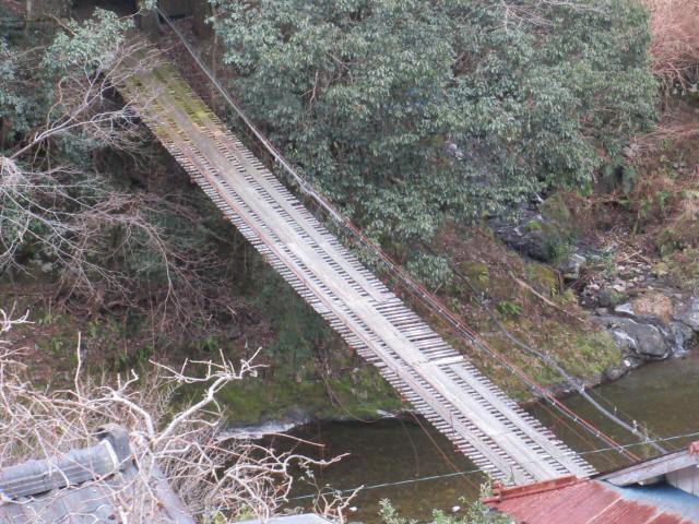 日浦谷の吊橋2