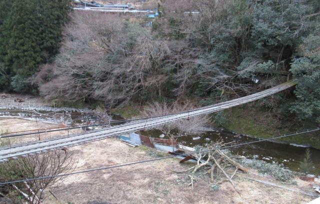 日浦谷の吊橋1