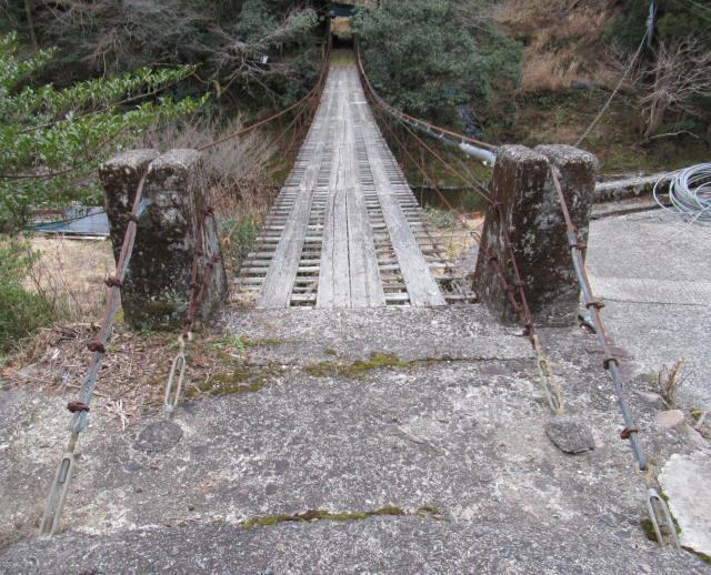 日浦谷の吊橋a