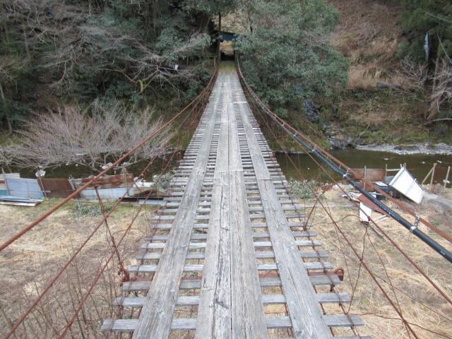 日浦谷の吊橋6