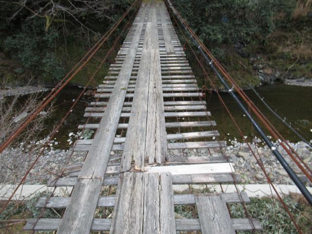 日浦谷の吊橋7