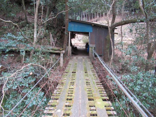 日浦谷の吊橋8