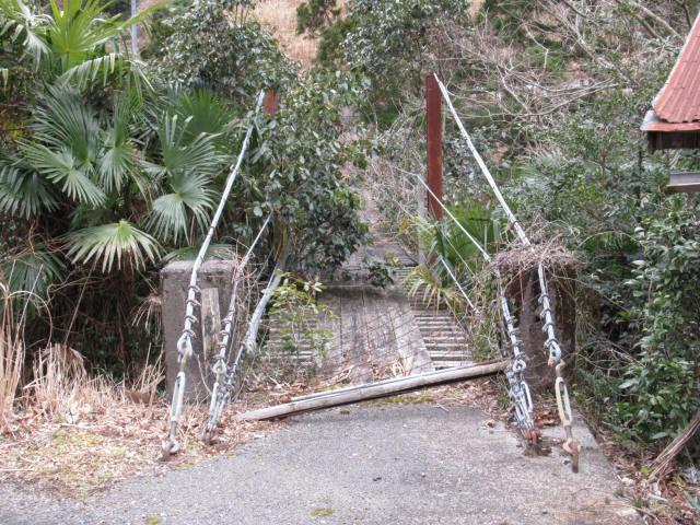 上小藪川の吊橋1-1