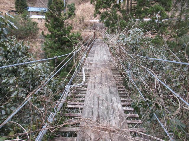 上小藪川の吊橋1-3