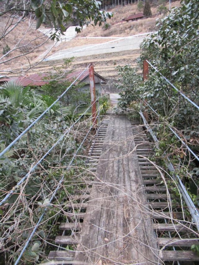 上小藪川の吊橋1-8