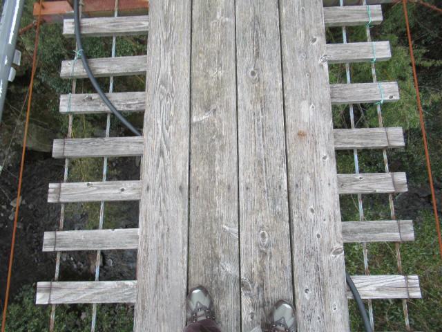 上小藪川の吊橋1-9