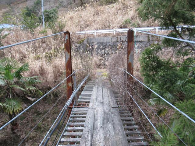 上小藪川の吊橋1-7