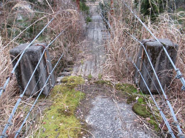 上小藪川の吊橋1-2