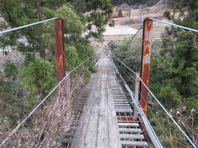 上小藪川の吊橋1-6