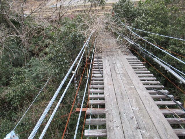 上小藪川の吊橋1-4