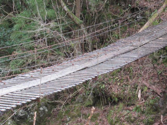 上小藪川の吊橋2-7