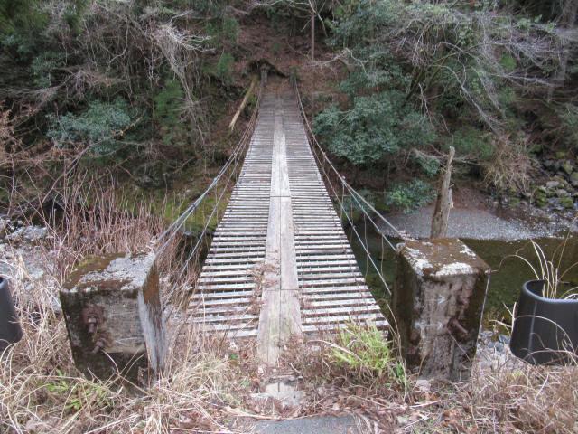 上小藪川の吊橋2-3