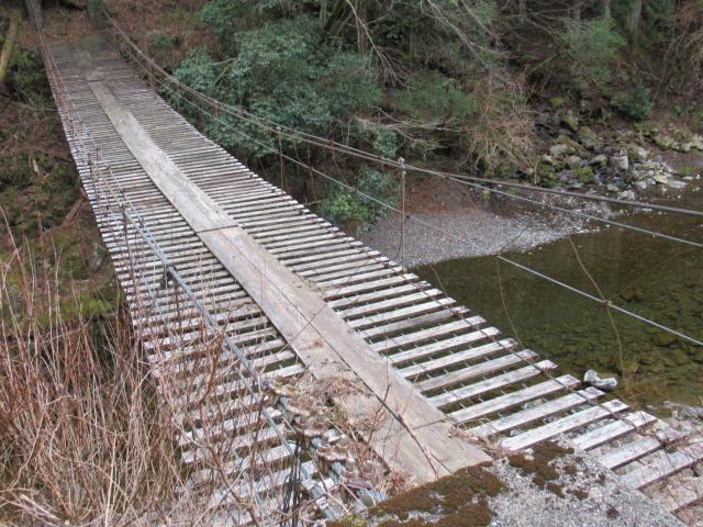 上小藪川の吊橋2-4