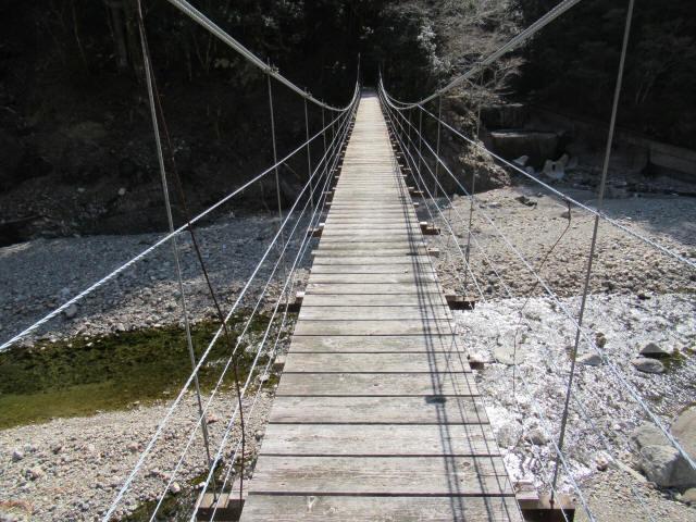 口合谷の吊橋7