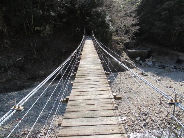 口合谷の吊橋6