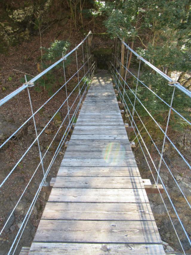 口合谷の吊橋9