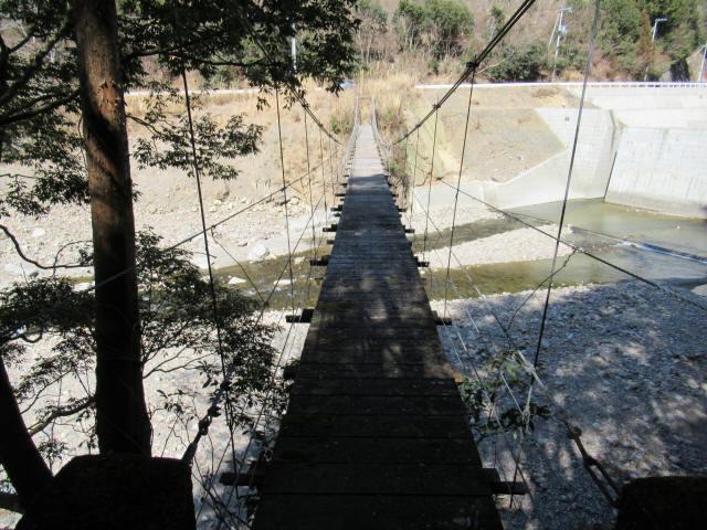 口合谷の吊橋5
