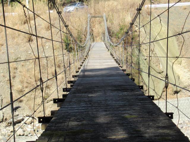口合谷の吊橋8