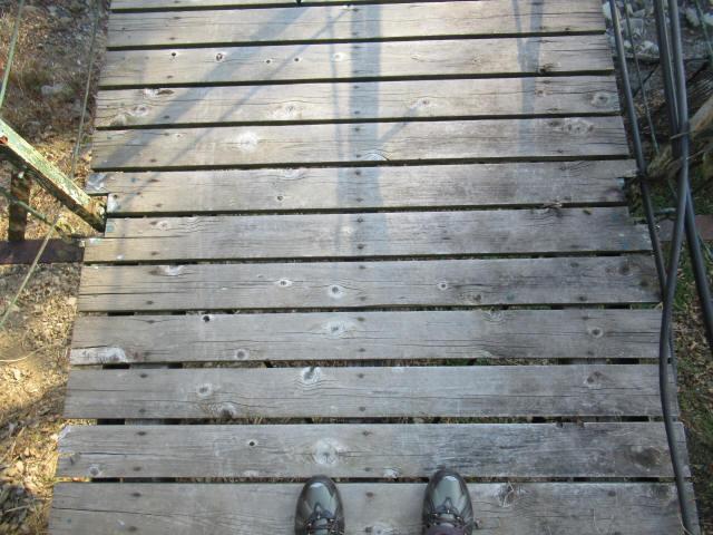 向垣内の吊橋9