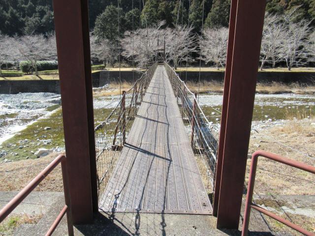 佐野川キャンプ場の吊橋7