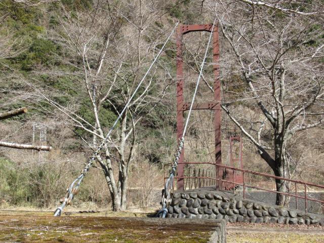 佐野川キャンプ場の吊橋4