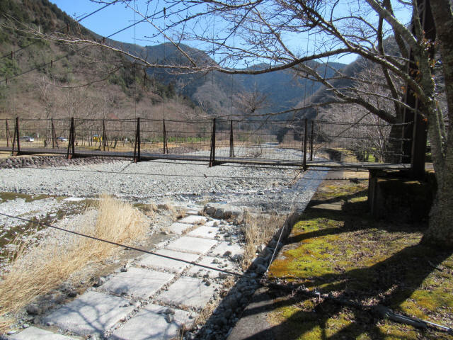 佐野川キャンプ場の吊橋6