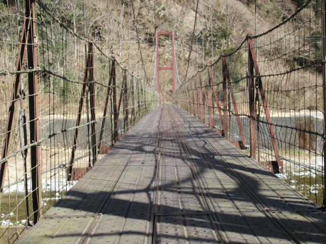 佐野川キャンプ場の吊橋9
