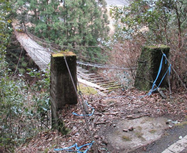 下小藪川の吊橋1