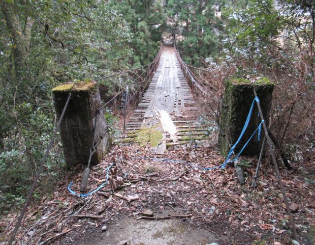 下小藪川の吊橋2
