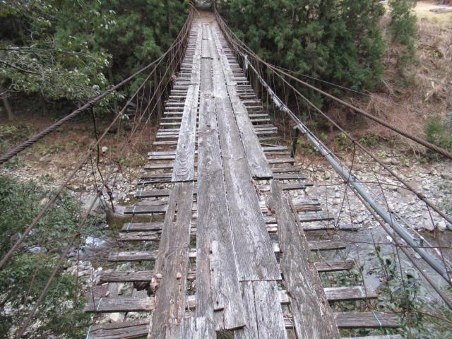 下小藪川の吊橋5