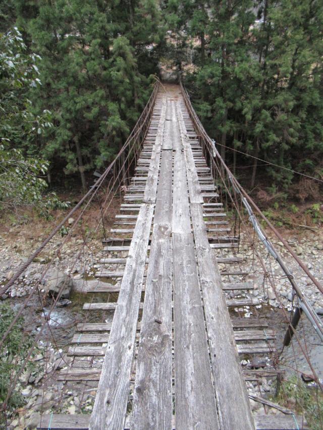 下小藪川の吊橋8