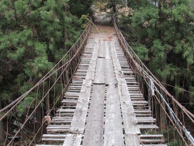 下小藪川の吊橋7
