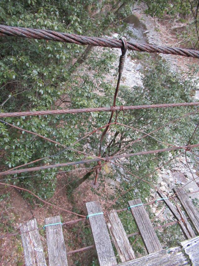 下小藪川の吊橋9