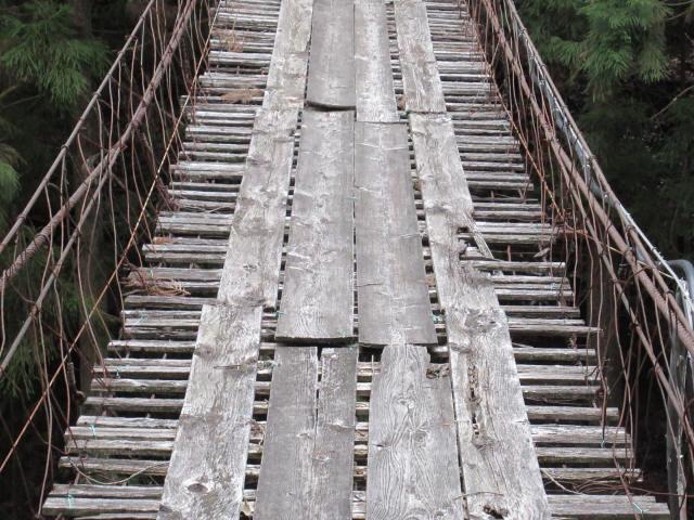 下小藪川の吊橋6