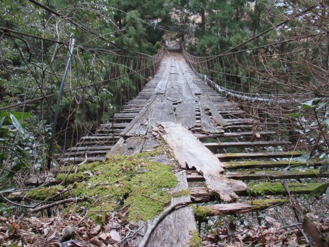 下小藪川の吊橋3
