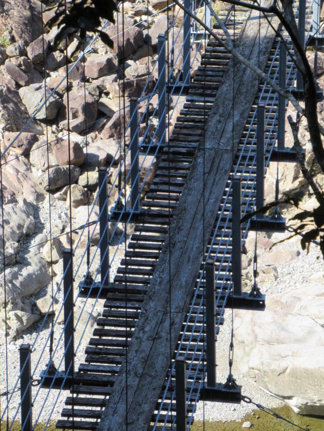 滝浦の吊橋0