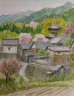 当麻寺 春 (309x400)