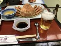 カニにビール180211