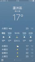 蘆洲17℃180320