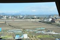 琵琶湖が見えてきた180211