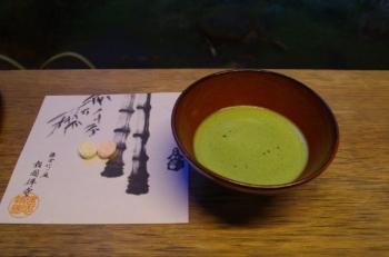報告寺竹の庭抹茶