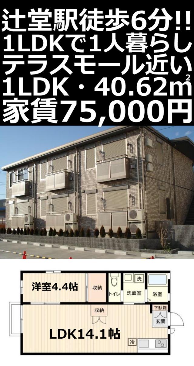 ■物件番号5260 辻堂駅6分!テラモ近く!1LDK+WIC!築浅!都市ガス!7.5万円!