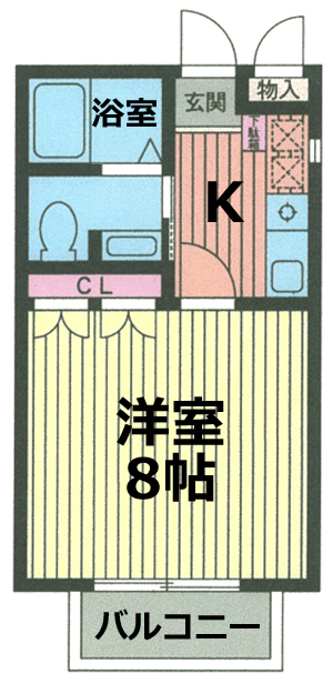 ■物件番号5283 海近!海7分!洋室8帖+キッチン!お手頃5.2万円!バストイレ別!独立洗面!敷地P有り!