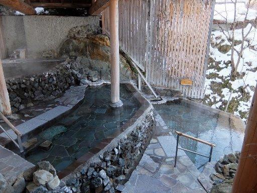 3段たな田の渓流露天風呂