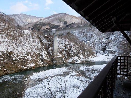 露天風呂からの大川渓谷の眺望