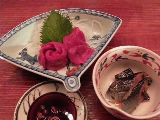 桜刺し・にしんの山椒漬け
