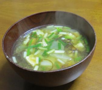 ワケギの味噌汁
