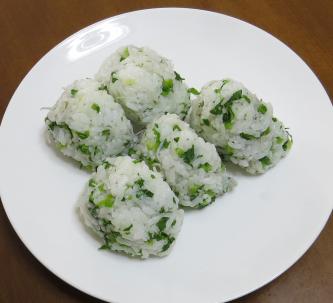 旬野菜料理セリフォンを使ったオニギリ